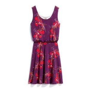 VERSE Madewell Darcie Purple Floral Dress